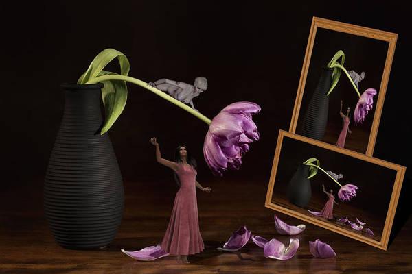 Hairdo Digital Art - Catch Me I'm Falling by Barroa Artworks