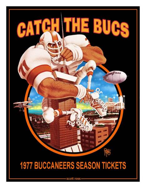 Digital Art - Catch The Bucs by Scott Ross