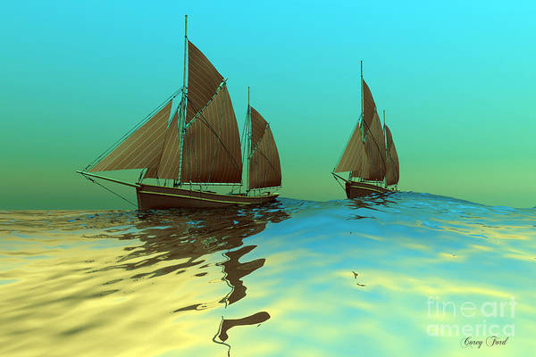 Rudder Painting - Catch The Wind by Corey Ford