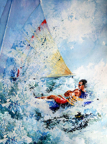 Action Sports Painting - Catch The Wind by Hanne Lore Koehler