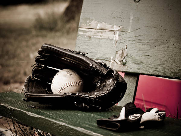 Softball Photograph - Catcher by Valerie Morrison