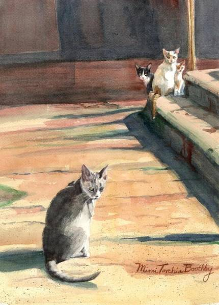 Painting - Catching A Little Sun by Mimi Boothby
