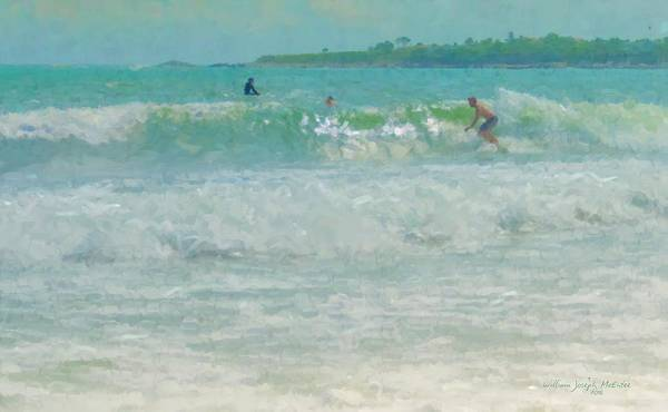 Painting - Catching The Wave by Bill McEntee