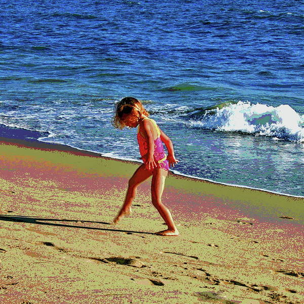 Laguna Beach Mixed Media - Catching Your Shadow by Les Mayers
