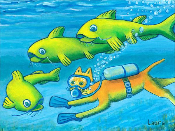 Wall Art - Painting - Catfish by Laura Zoellner