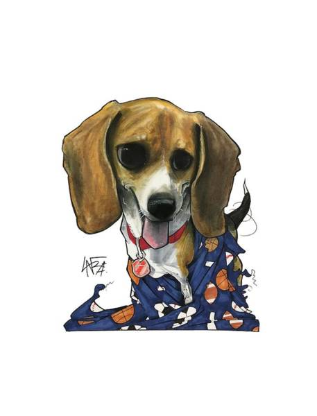 Pet Portrait Drawing - Catha 3239 by John LaFree