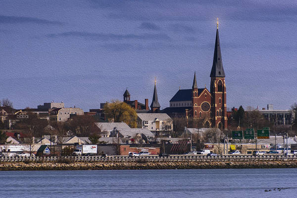 Photograph - Cathedral Across The Bay-oil by Mark Myhaver