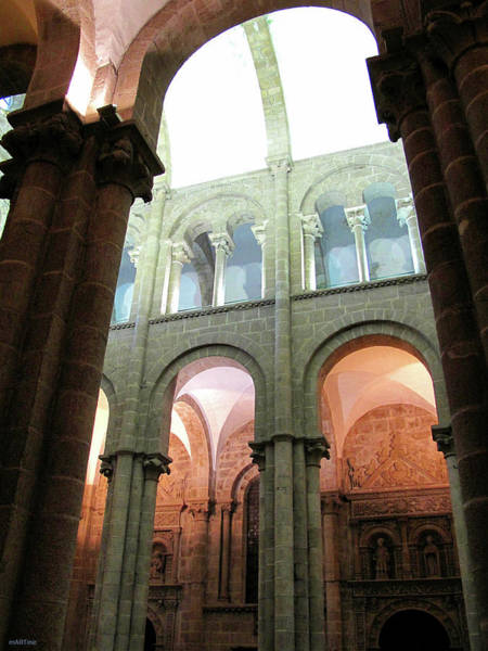 Galicia Photograph - Cathedral Arches by Martine Murphy