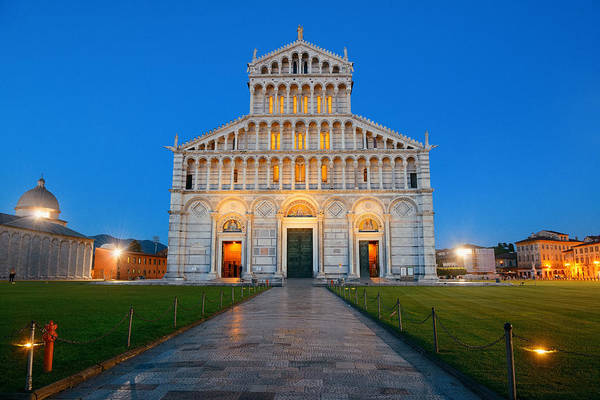 Photograph - Cathedral At Piazza Dei Miracoli by Songquan Deng