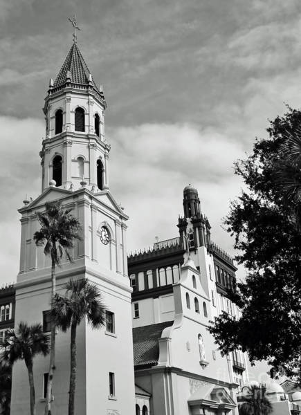 Photograph - Cathedral Basilica B W by D Hackett