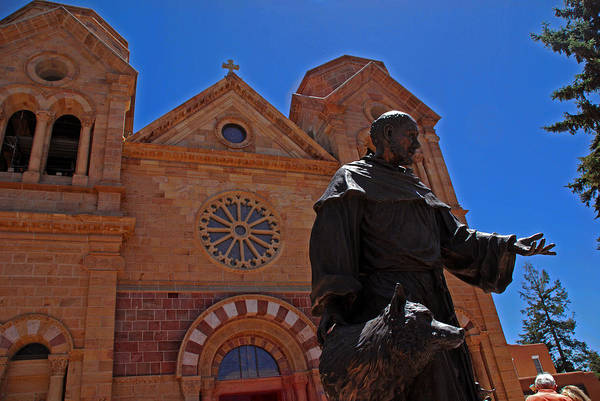 Photograph - Cathedral Basilica In Santa Fe by Susanne Van Hulst