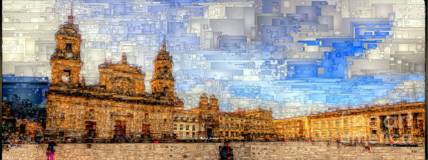 Digital Art - Cathedral, Bogota Colombia by Rafael Salazar