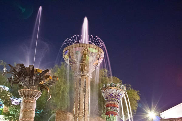 Photograph - Cathedral City Fountain by Matthew Bamberg