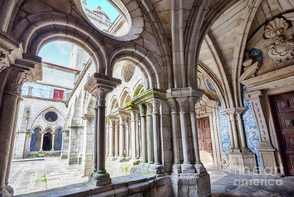 Photograph - cathedral cloister Se, Porto by Ariadna De Raadt