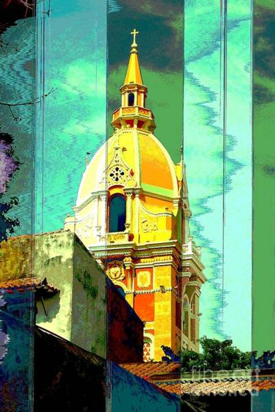 Grace Cathedral Photograph - Cathedral De San Pedro Claver Cartagena Colombia by Ann Johndro-Collins