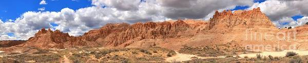 Photograph - Cathedral Gorge Towers Panorama by Adam Jewell