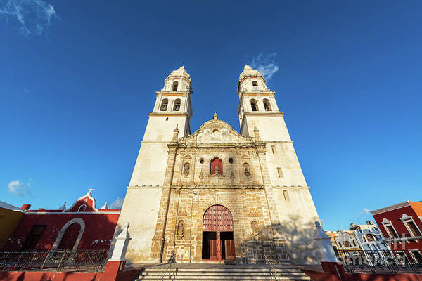 Campeche Photograph - Cathedral In Campeche by Jess Kraft