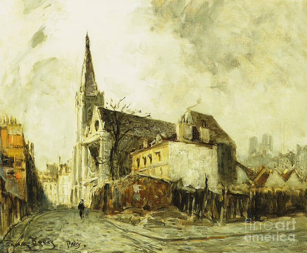 Avenue Painting - Cathedral In Paris by Frank Myers Boggs