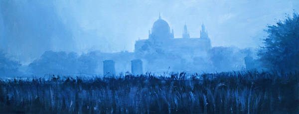 Galway Painting - Cathedral In The Mist by Conor McGuire
