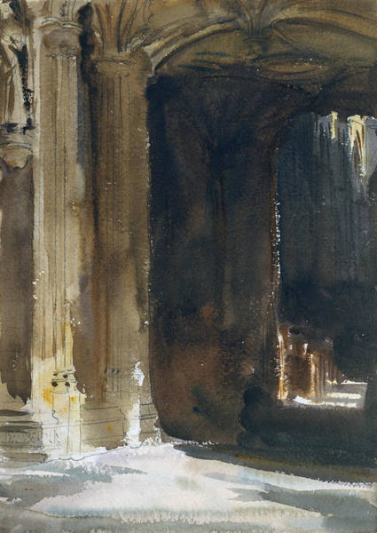 Drawing - Cathedral Interior by John Singer Sargent