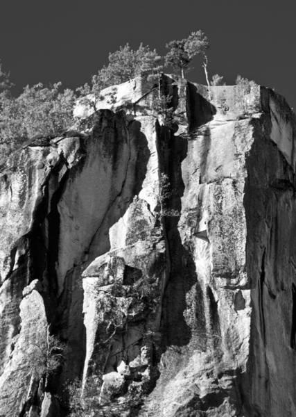 Photograph - Cathedral Ledge In Monochrome by Nancy De Flon