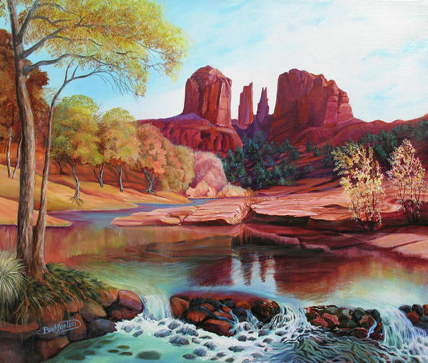 Sacred Ground Painting - Cathedral Monument by Beverly Martin