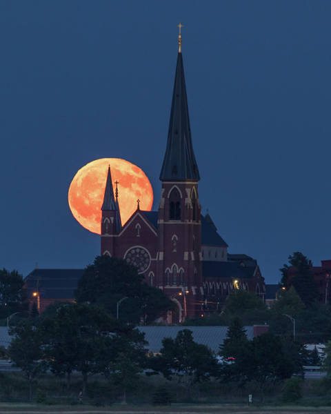 Photograph - Cathedral Moon by Colin Chase