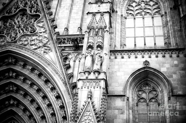 Photograph - Cathedral Of Barcelona Details by John Rizzuto