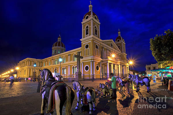 Cathedral Of Granada Shines Brightly Art Print