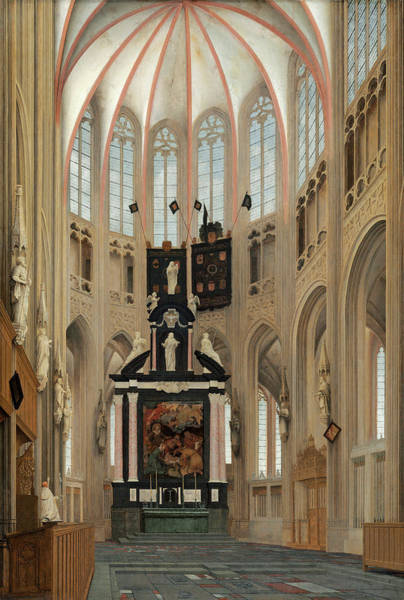 Painting - Cathedral Of Saint John's At Hertogenbosch by Pieter Jansz Saenredam
