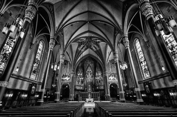 Photograph - Cathedral Of The Madeline In Black And W by Michael Ash