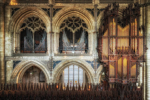 Photograph - Cathedral Organ by James Billings