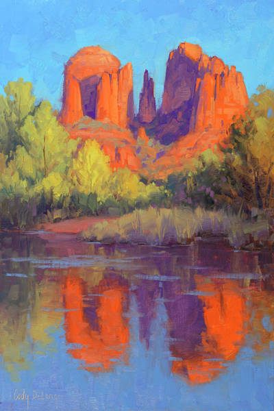 Sedona Painting - Cathedral Reflections by Cody DeLong