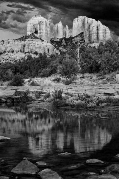 Cathedral Rock Black And White Number Seven Art Print