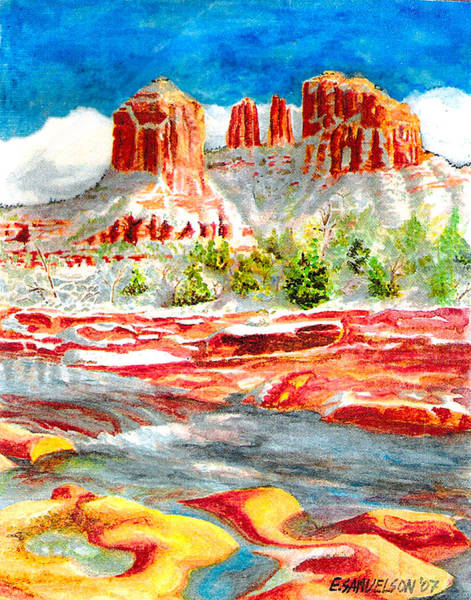 Painting - Cathedral Rock Crossing by Eric Samuelson
