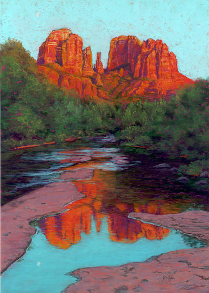 Flagstaff Painting - Cathedral Rock by Jim Tyler