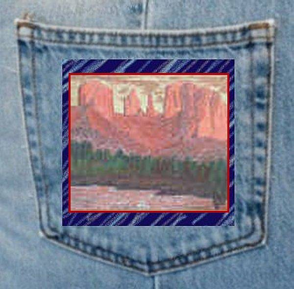Painting - Cathedral Rock Oil Painting On Pocket by Julia Woodman