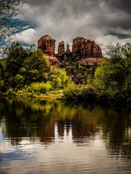 Photograph - Cathedral Rock Reflections by Terry Ann Morris