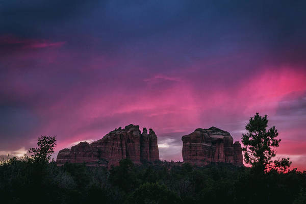 Photograph - Cathedral Rock Sunset by Andy Konieczny