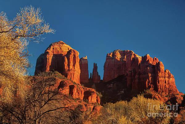 Photograph - Cathedral Rocks Oak Creek Sedona Arizona by Dave Welling