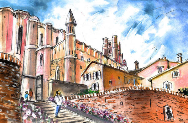 Painting - Cathedral Sainte Cecile In Albi 02 by Miki De Goodaboom