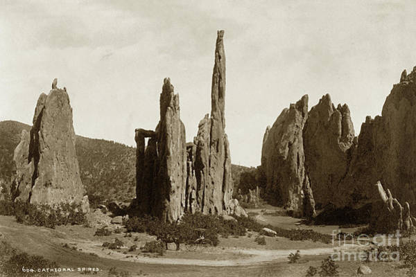 Photograph - Cathedral Spires. Garden Of The Gods, Colorado Circa 1885 by California Views Archives Mr Pat Hathaway Archives