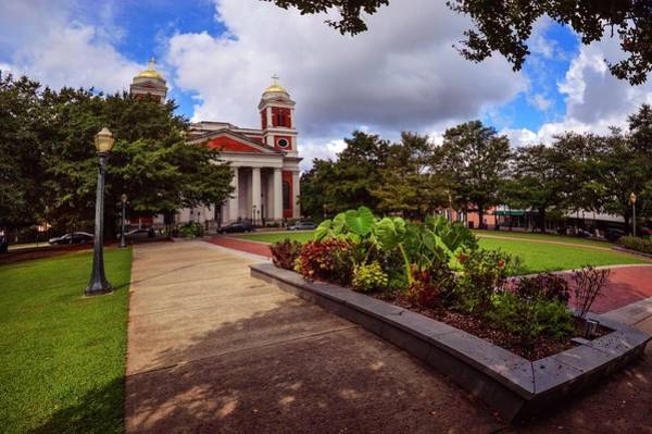 Photograph - Cathedral Square And Church In Mobile Alabama by Michael Thomas