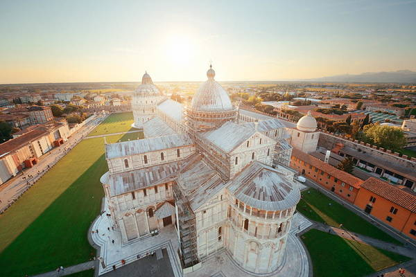 Photograph - Cathedral View From Leaning Tower Pisa Italy by Songquan Deng