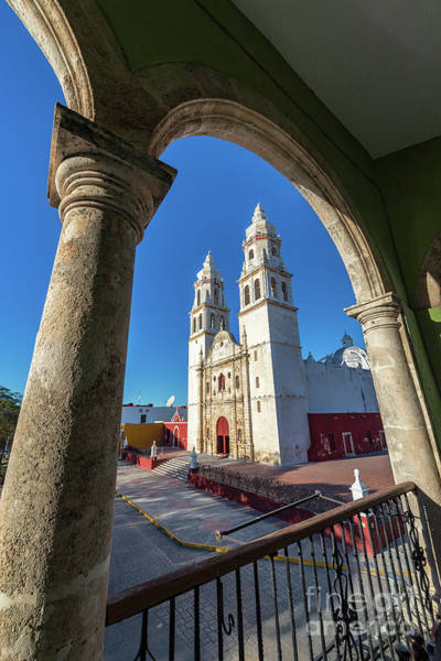 Campeche Photograph - Cathedral Viewed From Balcony by Jess Kraft
