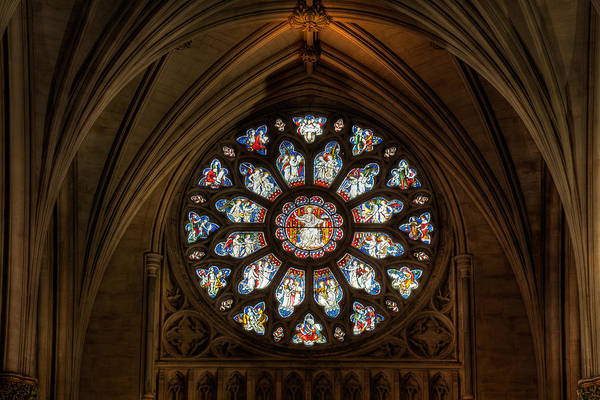 Bristol Photograph - Cathedral Window by Adrian Evans