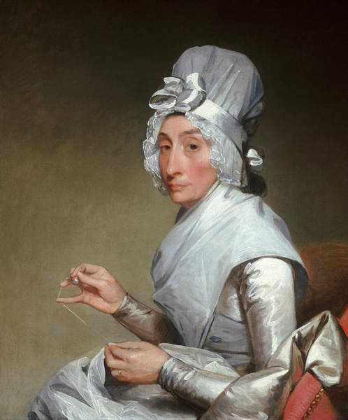 Painting - Catherine Brass Yates  by Gilbert Stuart