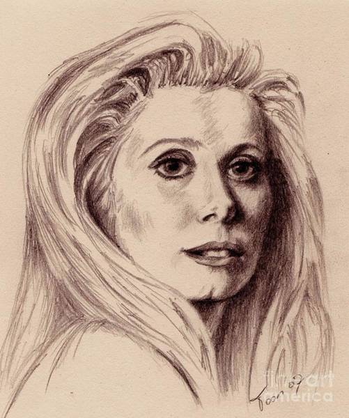 Drawing - Catherine Deneuve by Toon De Zwart