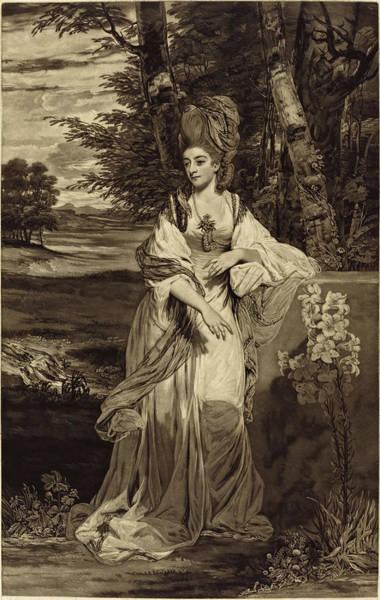 Drawing - Catherine, Lady Bampfylde by Thomas Watson after Sir Joshua Reynolds