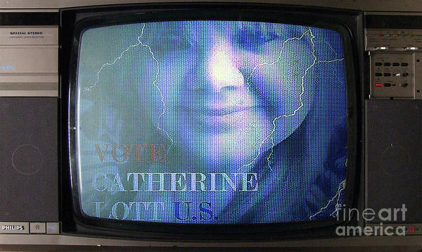 Painting - Catherine Lott Presidential Candidate As Seen On Tv by Catherine Lott
